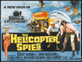 "Movie Posters:Action, Helicopter Spies (MGM, 1968). British Quad (29.5"" X 40""). Action....."