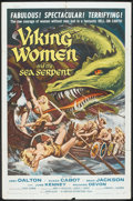 "Movie Posters:Fantasy, Viking Women and the Sea Serpent (American International, 1958). One Sheet (27"" X 41""). Fantasy.. ..."