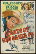 "Movie Posters:Western, Lights of Old Santa Fe (Republic, 1944). One Sheet (27"" X 41"").Western.. ..."
