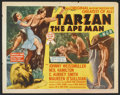 "Movie Posters:Adventure, Tarzan the Ape Man (MGM, R-1954). Half Sheet (22"" X 28"") Style A.Adventure.. ..."