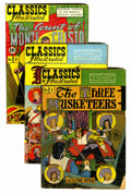 Golden Age (1938-1955):Classics Illustrated, Classics Illustrated Group with Binder (Gilberton, 1940s-50s).... (Total: 17 Comic Books)