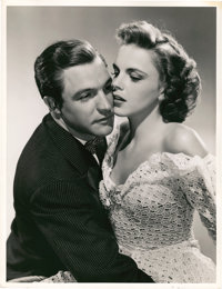 "Gene Kelly and Judy Garland in ""For Me and My Gal"" (MGM, 1942). Portrait Still (10"" X 13"")"