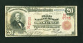 National Bank Notes:Wisconsin, Milwaukee, WI - $20 1902 Red Seal Fr. 639 The First NB Ch. # (M)2715. ...