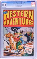 Golden Age (1938-1955):Western, Western Adventures Comics #4 (Ace, 1949) CGC NM- 9.2 Off-white towhite pages....