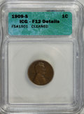 Lincoln Cents, 1909-S 1C --Cleaned--ICG. F12 Details. FS#1501. PCGS Population (93/1137). Mintage: 1,825,000. Numismedi...
