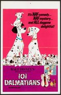"Movie Posters:Animated, 101 Dalmatians (Buena Vista, R-1969). Window Card (14"" X 22""). Animated.. ..."