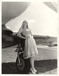 "Veronica Lake in ""I Wanted Wings"" by C. Kenneth Lobben (Paramount, 1941). Portrait (10.25"" X 13"")..."