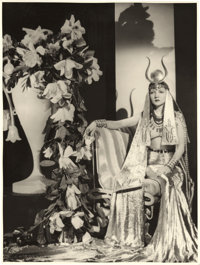 "Claudette Colbert in ""Cleopatra"" by Ray Jones (Paramount, 1934). Portrait Photo (9.75"" X 13"")"
