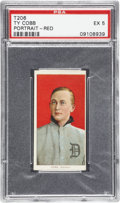 Baseball Cards:Singles (Pre-1930), 1909-11 T206 Ty Cobb Portrait American Beauty PSA EX 5....