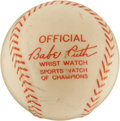 Baseball Collectibles:Others, 1948 Babe Ruth Wristwatch & Baseball Packaging. ...