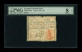 Colonial Notes:Georgia, Georgia June 8, 1777 $3 PMG Very Good 8 NET....
