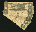 Confederate Notes:1864 Issues, T68 $10 1864 Five Examples.. ... (Total: 5)
