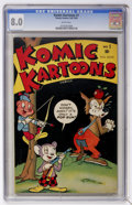 Golden Age (1938-1955):Funny Animal, Komic Kartoons #1 (Timely, 1945) CGC VF 8.0 White pages....
