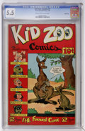 Golden Age (1938-1955):Funny Animal, Kid Zoo Comics #1 Windy City pedigree (Street & Smith, 1948)CGC FN- 5.5 Cream to off-white pages....