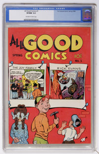 All Good Comics #1 (Fox, 1946) CGC VF/NM 9.0 Off-white to white pages
