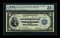 Fr. 767 $2 1918 Federal Reserve Bank Note PMG About Uncirculated 55 EPQ