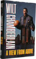 """Basketball Collectibles:Others, Wilt Chamberlain Signed """"A View from Above"""" Book. Here we offer ahardcover first edition copy of the 1991 book that met wi..."""