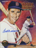 Autographs:Others, Ted Williams Signed Periodical. The Splendid Splinter offers aperfect 10 sharpie application of his desirable signature, s...