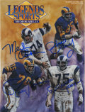 Football Collectibles:Others, LA Rams Fearsome Foursome Multi-Signed Periodical. The dominant LA Rams defensive line of the mid-1960s is represented here...