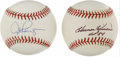 Autographs:Baseballs, Harmon Killebrew and Alex Rodriguez Single Signed Baseballs Lot of2. Here we offer two prime singles, one from a slugger f...