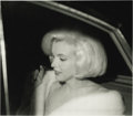 "Movie/TV Memorabilia:Photos, Marilyn Monroe Negatives. Irv Steinberg's profile shot of Monroe, after the triumph of her ""Happy Birthday"" song appearance ... (Total: 1 Item)"