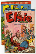 "Golden Age (1938-1955):Funny Animal, Elsie the Cow #1 and 3 Group - Davis Crippen (""D"" Copy) pedigree(Bell Features, 1949-50) Condition: Average VF.... (Total: 2)"