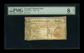 Colonial Notes:Georgia, Georgia 1776 $2 PMG Very Good 8 Net....