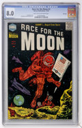 Golden Age (1938-1955):Science Fiction, Race For the Moon #3 File Copy (Harvey, 1958) CGC VF 8.0 Light tanto off-white pages....