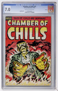 Golden Age (1938-1955):Horror, Chamber of Chills #25 File Copy (Harvey, 1954) CGC FN/VF 7.0 Creamto off-white pages....