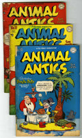 "Golden Age (1938-1955):Funny Animal, Animal Antics #10-12 Group - Davis Crippen (""D"" Copy) pedigree (DC,1947-48) Condition: Average FR.... (Total: 3)"