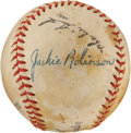 Autographs:Baseballs, 1950's Jackie Robinson Signed Baseball from Segregated League....
