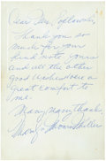 Movie/TV Memorabilia:Autographs and Signed Items, Marilyn Monroe Signed Handwritten Note.... (Total: 2 )
