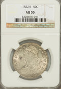 Bust Half Dollars: , 1822/1 50C AU55 NGC. NGC Census: (14/37). PCGS Population (13/30).Numismedia Wsl. Price for NGC/PCGS coin in AU55: $765. ...