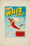 Original Comic Art:Miscellaneous, C. C. Beck Whiz Comics #104 Cover Color Guide Production Art(Fawcett, 1948)....