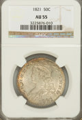 Bust Half Dollars: , 1821 50C AU55 NGC. NGC Census: (68/191). PCGS Population (79/155).Mintage: 1,305,797. Numismedia Wsl. Price for NGC/PCGS c...