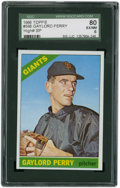 Baseball Cards:Singles (1960-1969), 1966 Topps Gaylord Perry #598 SGC 80 EX/NM 6....