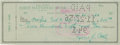 Autographs:Checks, 1956 Ty Cobb Signed Check. ...