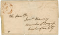 "Autographs:U.S. Presidents, Andrew Jackson Cover Addressed in His Hand to ""Jonathan Harvey/Member of Congress/ Washington City"" with postmark""NA..."