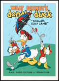 "Movie Posters:Animated, Donald's Golf Game (Circle Fine Arts, 1980s). Fine Art Serigraph(22.75"" X 31""). Animated.. ..."