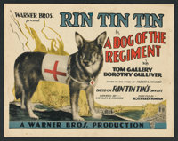 "A Dog of the Regiment (Warner Brothers, 1927). Title Lobby Card (11"" X 14"") and Lobby Cards (3) (11"" X 14..."