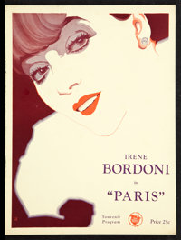 "Paris (First National, 1929). Souvenir Program (Multiplate Pages, 0"" X 12""). Musical"