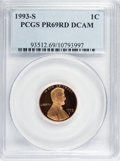 Proof Sets, 1993-S 1C Set Of Five Proof Coins PR 69 Deep Cameo PCGS. The Set Includes: 1993-S Lincoln Cent PR 69 Deep Cameo,1993-S Jeff... (Total: 5 coins)