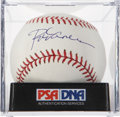Autographs:Baseballs, Rod Carew Single Signed Baseball PSA Mint 9. ...