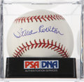 Autographs:Baseballs, Steve Carlton Single Signed Baseball PSA Mint 9. ...