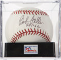 Autographs:Baseballs, Bob Feller Single Signed Baseball PSA Mint 9. ...