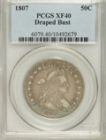 Early Half Dollars: , 1807 50C Draped Bust XF40 PCGS. PCGS Population (99/341). NGCCensus: (84/364). Mintage: 301,076. Numismedia Wsl. Price for...