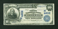 National Bank Notes:Wisconsin, Beaver Dam, WI - $10 1902 Plain Back Fr. 628 The German NB Ch. # (M)4602. ...
