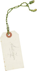 Golf Collectibles:Autographs, Walter Hagen Signed Event Tag. ...