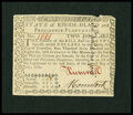 Colonial Notes:Rhode Island, Rhode Island July 2, 1780 $2 Very Choice New....