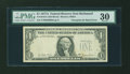 Error Notes:Third Printing on Reverse, Fr. 1910-E $1 1977A Federal Reserve Note. PMG Very Fine 30.. ...